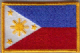Philippines Embroidered Flag Patch, style 08.